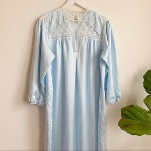 Vtg Vanity Fair From Eaton Long Nightgown L Lace